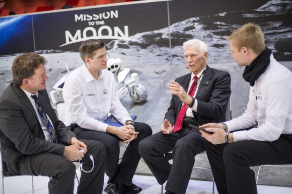 Rolf Erdmann, Robert Böhme, Eugene Cernan, Karsten Becker. © Audi USA